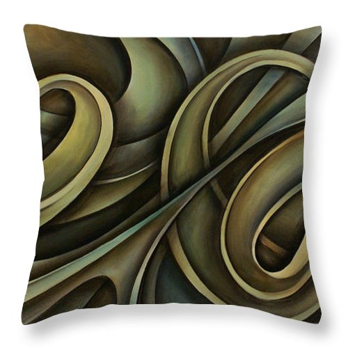 Abstract Art Throw Pillow featuring the painting Abstract Design 12 by Michael Lang
