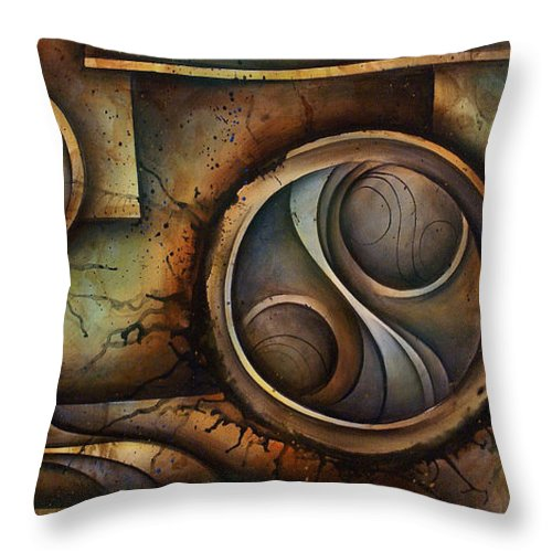 Abstract Art Throw Pillow featuring the painting Abstract Design 13 by Michael Lang