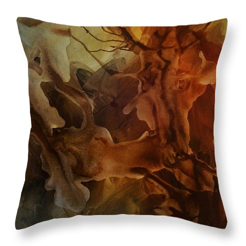 Art Throw Pillow featuring the painting Abstract Design 23 by Michael Lang