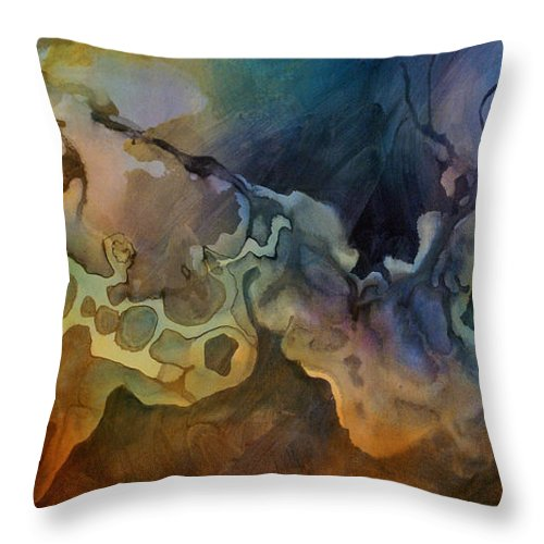 Art Throw Pillow featuring the painting Abstract Design 28 by Michael Lang