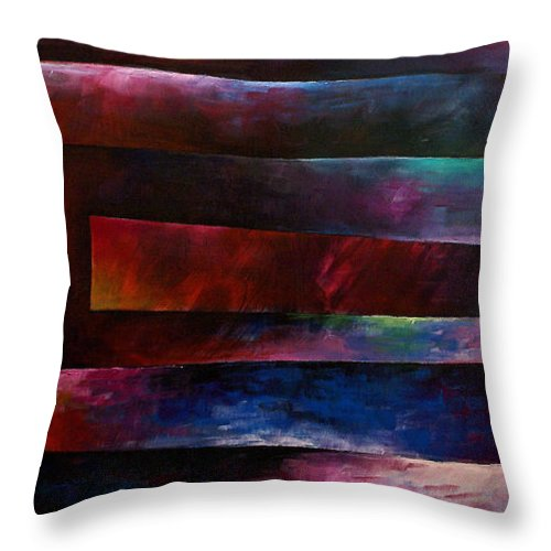 Large Original Painting Abstract Design Throw Pillow featuring the painting Abstract Design 3 by Michael Lang