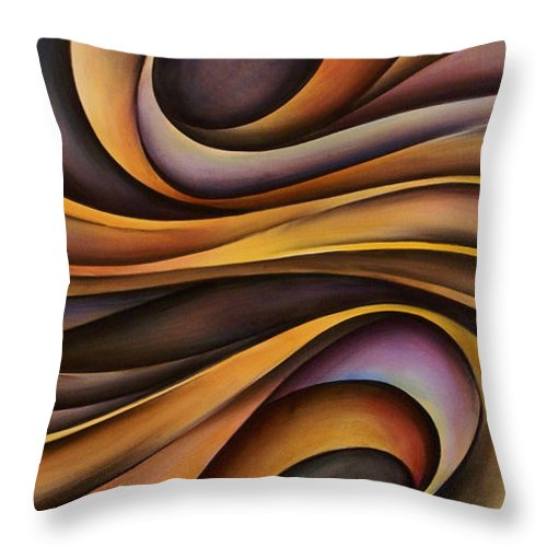 Art Throw Pillow featuring the painting Abstract Design 31 by Michael Lang