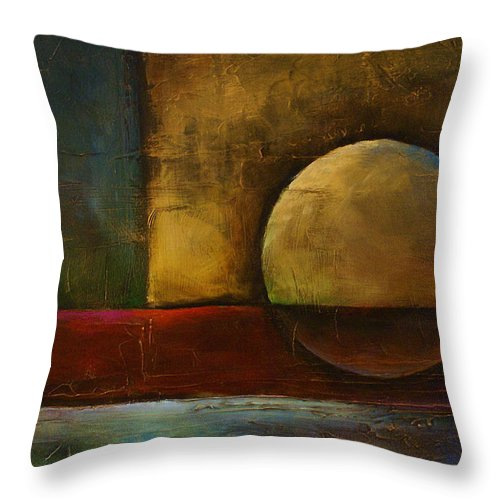 Throw Pillow featuring the painting Abstract Design 36 by Michael Lang