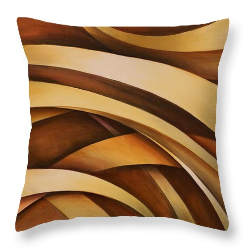 Design Throw Pillow featuring the painting Abstract Design 39 by Michael Lang
