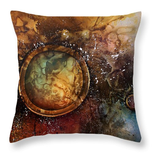 Abstract Art Throw Pillow featuring the painting Abstract Design 6 by Michael Lang