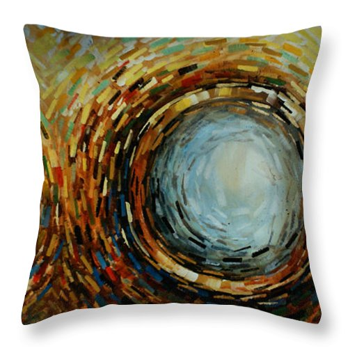 Abstract Throw Pillow featuring the painting Abstract Design 68 by Michael Lang