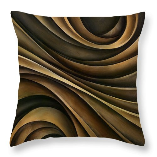 Abstract Art Throw Pillow featuring the painting Abstract Design 7 by Michael Lang