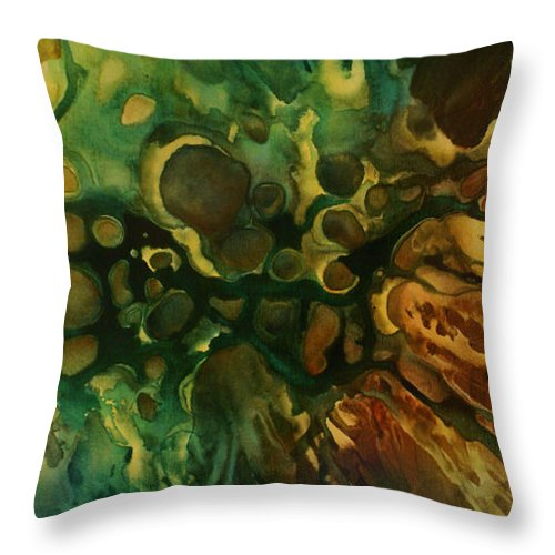Abstract Throw Pillow featuring the painting Abstract Design 79 by Michael Lang