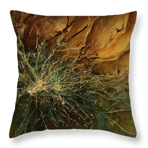 Abstract Art Throw Pillow featuring the painting Abstract Design 8 by Michael Lang
