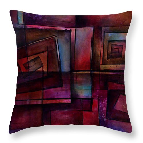 Abstract Throw Pillow featuring the painting Abstract Design 89 by Michael Lang