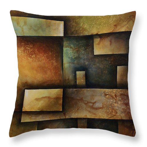 Abstract Art Throw Pillow featuring the painting Abstract Design 9 by Michael Lang