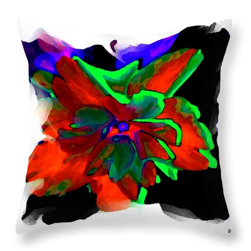 Abstract Throw Pillow featuring the digital art Abstract Elegance by Will Borden