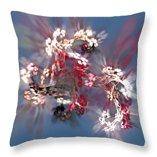 Floral Throw Pillow featuring the digital art Abstract Floral Fantasy by David Lane