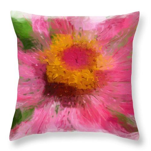 Robyn King Throw Pillow featuring the photograph Abstract Flower Expressions by Robyn King