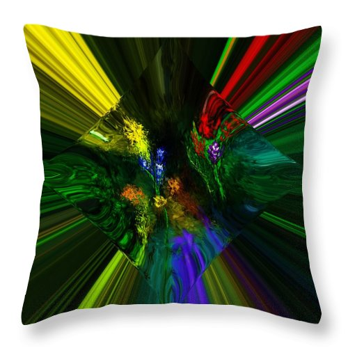 Digital Painting Throw Pillow featuring the digital art Abstract Garden by David Lane
