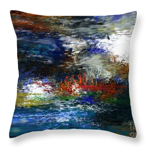 Abstract Throw Pillow featuring the digital art Abstract Impression 5-9-09 by David Lane