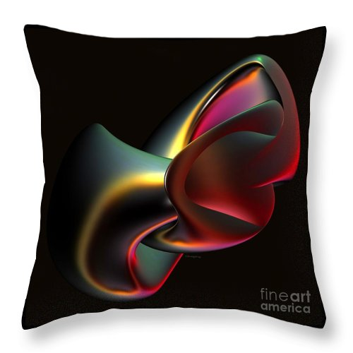 Home Throw Pillow featuring the digital art Abstract In 3d by Greg Moores