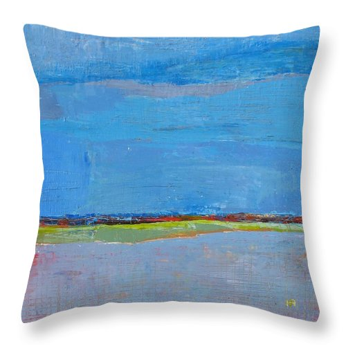 Throw Pillow featuring the painting Abstract Landscape1 by Habib Ayat