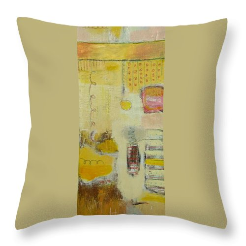 Abstract Throw Pillow featuring the painting Abstract Life 1 by Habib Ayat