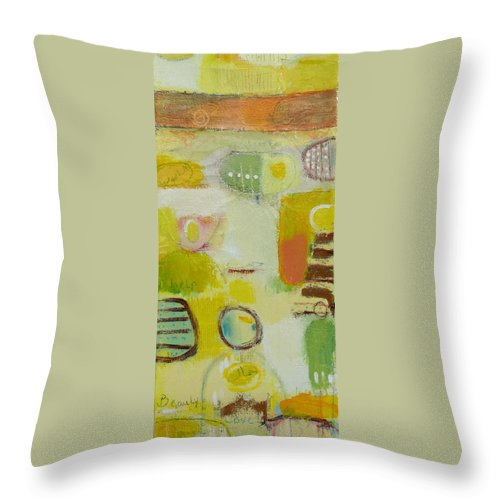 Throw Pillow featuring the painting Abstract Life 2 by Habib Ayat