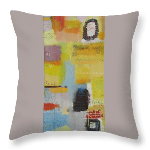 Abstract Throw Pillow featuring the painting Abstract Life 3 by Habib Ayat