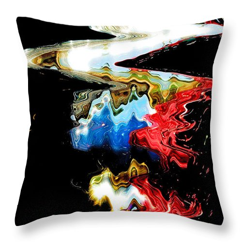 Abstract Throw Pillow featuring the photograph Abstract Light by Steve Somerville