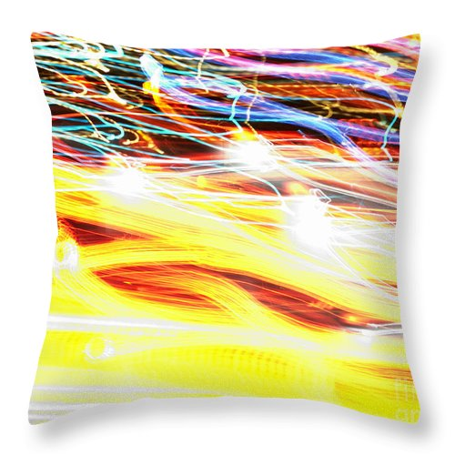 Abstract Throw Pillow featuring the photograph Abstract Light by Tony Cordoza