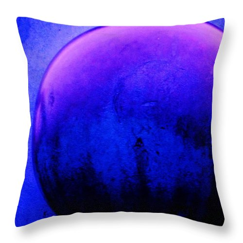 Abstract Throw Pillow featuring the painting Abstract Metal Ball by Eric Schiabor