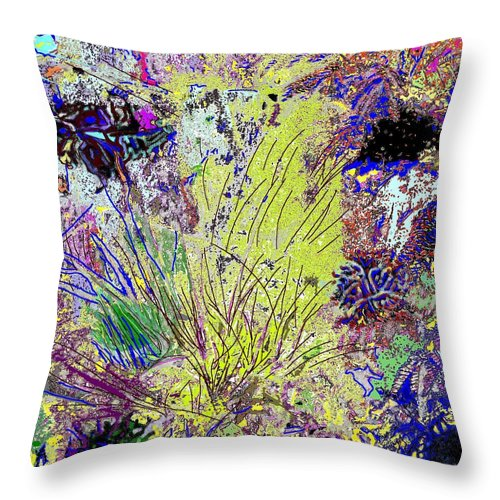Abstract Throw Pillow featuring the photograph Abstract Musings by Ian MacDonald