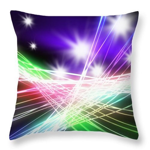 Abstract Throw Pillow featuring the photograph Abstract Of Stage Concert Lighting by Setsiri Silapasuwanchai