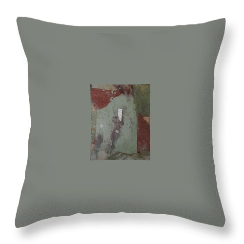 Throw Pillow featuring the mixed media Abstract One by Pat Snook