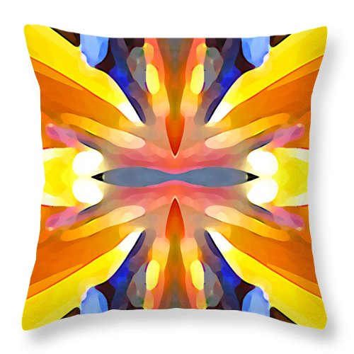 Abstract Art Throw Pillow featuring the painting Abstract Paradise by Amy Vangsgard