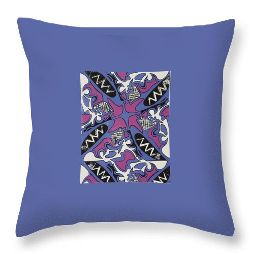 Pattern Throw Pillow featuring the painting Abstract Pattern by Jamey Balester