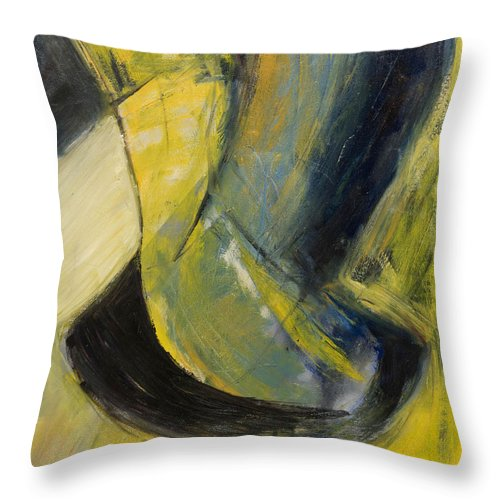 Abstract Throw Pillow featuring the painting Abstract Pendulum by Craig Newland