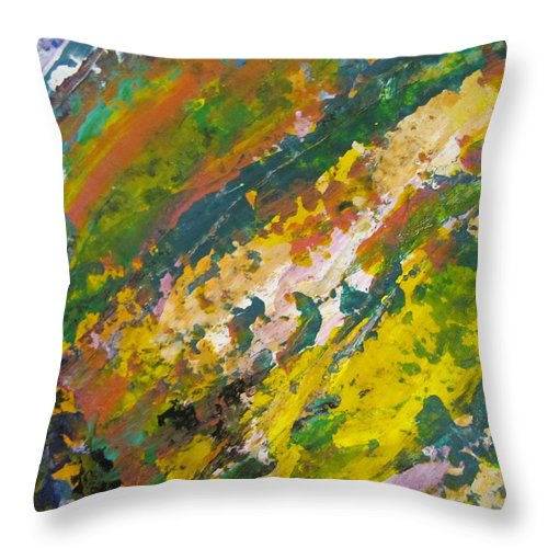 Abstract Throw Pillow featuring the painting Abstract Piano 3 by Anita Burgermeister