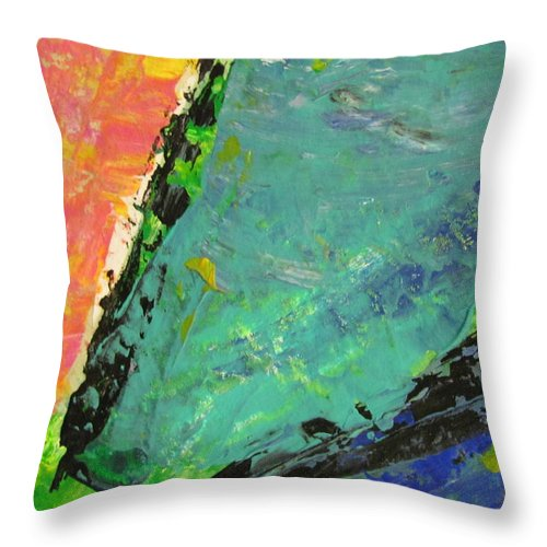 Abstract Throw Pillow featuring the painting Abstract Piano 4 by Anita Burgermeister