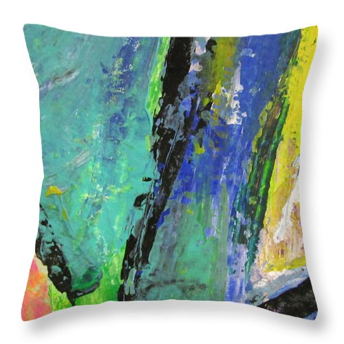 Abstract Throw Pillow featuring the painting Abstract Piano 5 by Anita Burgermeister