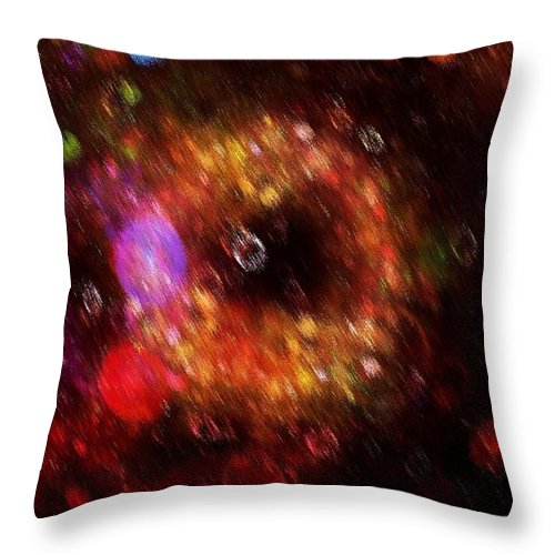 Color Throw Pillow featuring the painting Abstract Rain by Steve K