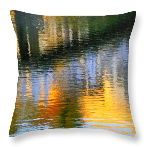 Abstract Throw Pillow featuring the photograph Abstract Reflection In Water 05 by Henry Murray