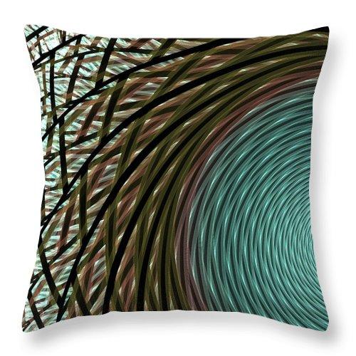 Apophysis Throw Pillow featuring the digital art Abstract Ring by Deborah Benoit