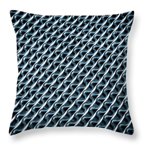Color Throw Pillow featuring the photograph Abstract Rubber And Iron Mat by Jozef Jankola