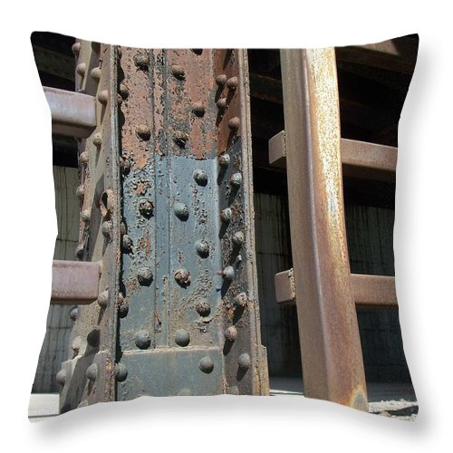 Urban Throw Pillow featuring the photograph Abstract Rust 1 by Anita Burgermeister