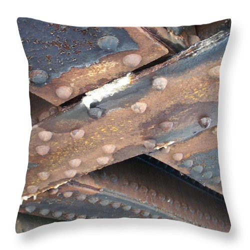 Urban Throw Pillow featuring the photograph Abstract Rust 2 by Anita Burgermeister