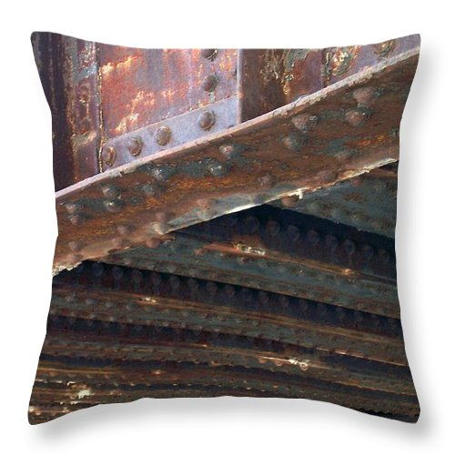 Urban Throw Pillow featuring the photograph Abstract Rust 4 by Anita Burgermeister
