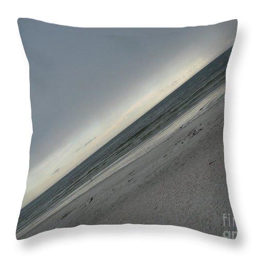 Ocean Throw Pillow featuring the photograph Abstract Sea by Amanda Barcon