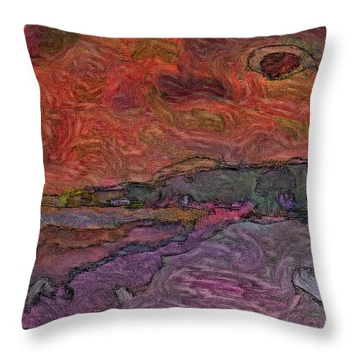 Beach Throw Pillow featuring the photograph Abstract Sunset by Dee Flouton