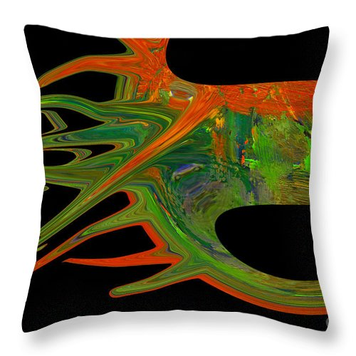 Abstract Throw Pillow featuring the photograph Abstract Tenticles by Jeff Swan