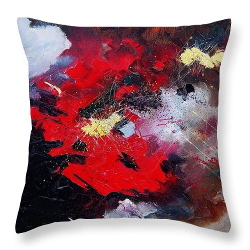 Abstract Throw Pillow featuring the painting Abstract070406 by Pol Ledent