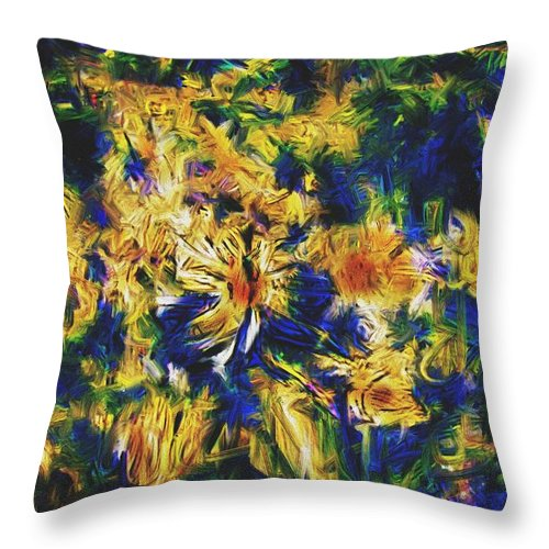Abstract Digital Painting Throw Pillow featuring the digital art Abstract11-06-09 by David Lane