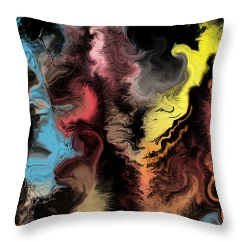 Abstract Throw Pillow featuring the digital art Abstract309i by David Lane